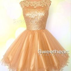 Cute Ball gown champagne Short Homecoming Dresses, Short Prom Dresses