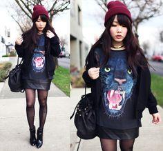 Black panther (by Ivy Xu) http://lookbook.nu/look/4570129-black-panther