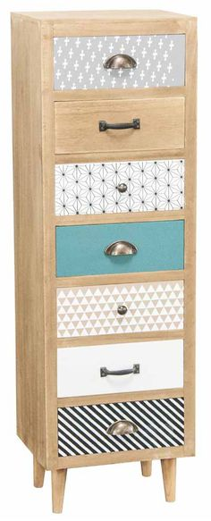 Retro 6 Drawer Chest of Drawers