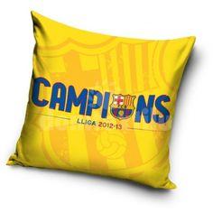 Obliečka na vankúš s motívom FC Barcelona - domtextilu. Fc Barcelona, Throw Pillows, Boutique, Collection, Hobbies, Toss Pillows, Cushions, Decorative Pillows, Decor Pillows