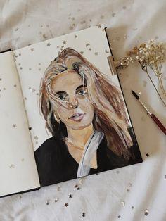 Posts, Female, Portrait, Nice, Painting, Art, Art Background, Messages, Painting Art