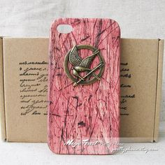Hunger Games case Iphone 5 case This is one Art cute coolest and best wood grain Brass Hunger Games Mockingjay iphone 5 case on Etsy, $12.62 CAD