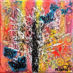 NEW PAINTING  Rainbow I  20x20 cm  My website: https://artbylonfeldt.dk/  #art #arts #paintings #painting #fineart #artbylonfeldt