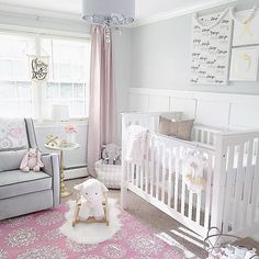 Congratulations to our #BrightWhiteWednesday winner julielopes__ ! This stunning space has it all, especially, since it will now have an @aggieandfrancois TEEPEE!! We're so jealous, but Julie's nursery is more than deserving of this week's fabulous prize! Her to die for pink and grey colour scheme, statement rug, and wainscoting are total #followfriday material!  Can't wait to see you all back here next #BrightWhiteWednesday