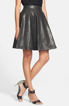 black leather skirt with foil print /dusty effect by Diane von Furstenberg