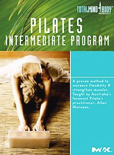 Pilates Intermediate Program [RA781 .P55 2005] This program will help you: strengthen abdominals, reduce back pain, stretch the hamstrings and lower back, mobilize tight joints, improve shallow breathing [and] improve poor posture