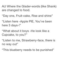 And they're all directed at Thomas. Hah. Cupcake reminds me of Coach Hedge.