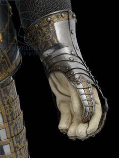 Detail of light field armour of Sir John Smythe, c.1585 (metal)
