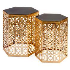 IMAX Nikki Chu Lancaster Mirror End Tables - Set of 2 - 47571-2