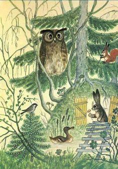 Polar Bear's Tale: Russian fairy tale illustrations... Now I want to find the story!