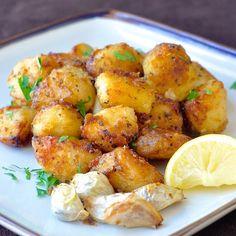 Patatas asadas hierba limón