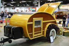 maybe one day when there are no kids going Tiny Trailers, Vintage Campers Trailers, Vintage Airstream, Camper Trailers, Travel Trailers, Building A Teardrop Trailer, Teardrop Camper Trailer, Bike Trailer, Mini Caravan