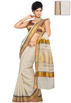 kerala wedding saree Kerala Wedding Saree, Kerala Saree, South Indian Sarees, Saree Wedding, Kerala Traditional Saree, Traditional Dresses, Kasavu Saree, Set Saree, Indian Designer Wear