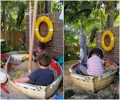 things to do with an old boat. some of these are really cute