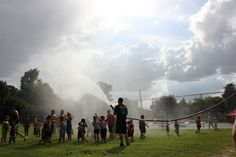 Cool off at Clayton's July 4th Celebration by getting hosed down by the Clayton Fire Department!