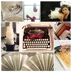 Something for the bookish debutante! A literature and lace inspired moodboard.