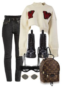 """""""Sin título #3868"""" by camilae97 ❤ liked on Polyvore featuring Vetements, Off-White, Dr. Martens and Morgan Lane"""