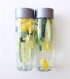 cucumber mint lemon water