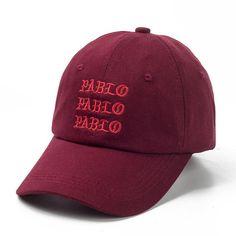 Embroidered Kanye West s Pablo Snapback Cap. Mens Dad HatsHat ... 276eebb8f882