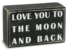 To The Moon Box Sign Placa de madeira na AllPosters.pt