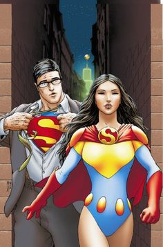 His and Hers, i just love it. Frank Quitely's illustration of Lane as Superwoman from the cover of All-Star Superman #3