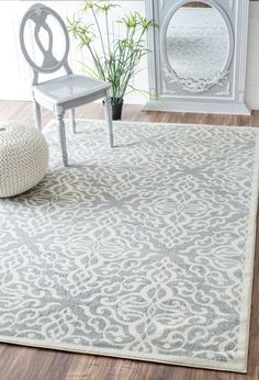 Rugs USA Silver Mentone Reversible Striped Bands Indoor/Outdoor rug ...