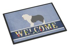 Old English Sheepdog Welcome Indoor or Outdoor Mat 18x27 BB8304MAT