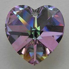 Swarovski Heart Bead Vitrail Light