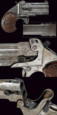 A Double Deringer pistol, dating: last quarter of the 19th Century provenance Europe.