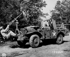 37 mm Gun M3 mounted aboard a M6 Gun Motor Carriage, with additional .50 cal machine gun attached, 3 miles west of Watertown, Tennessee, United States, 6 June 1943. http://wrhstol.com/2q7NXad