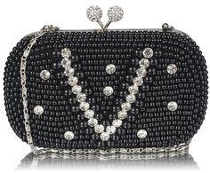 Czarna torebka wizytowa w stylu Vintage czarny | Sklep internetowy Evangarda.pl