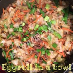 Eggroll in a bowl - all the yummy goodness of an eggroll without the unhealthy, fried wrapper! #RenewMe