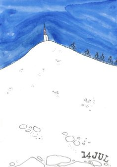 Mont Ventoux #TDF Bicycle Art, Bike, Exterior Design, Interior And Exterior, Daily Drawing, Tapestry, Deco, Drawings, Bicycle