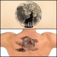 Full moon tattoo designs