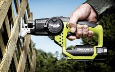 The Rockwell Trans4mer lets you hack wood down at any angle - jigsaw-style or reciprocating saw-style and anything in between.