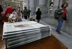 Orange County Register asks journalists to deliver paper for gift cards.