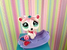 "*Perfect Pets for your Monster High Doll"" - Littlest Pet Shop Polar Bear OOAK Custom Hand Painted Littlest Pet Shop LPS   eBay"