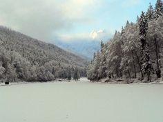 Winter at the Riessersee in Garmisch, Gemany.