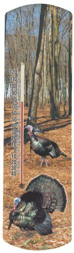 Heritage America by MORCO 375WT Wild Turkey Outdoor or Indoor Thermometer 20Inch * Learn more by visiting the image link.