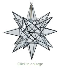 $135 Large Clear Glass Hanging Star Light