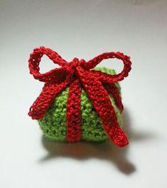 Pacchetto regalo di Natale all'uncinetto | Risultato finale | Foto