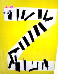 Letter Z = Zebra. We put stripes on the letter Z to make a Zebra!!