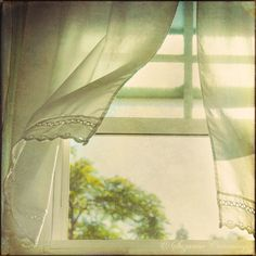 ~ ♥ ♥ ~ fresh air ~ ♥ ♥ ~ nothing like an open window letting in the summer breeze and the wind blowing the curtains. feel it