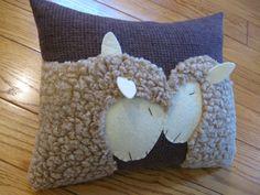 Oveja lanuda primitivo almohada... Me encanta oveja