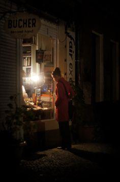 The Bookshop. Berlin, By Jürgen Bürgin. I'd want to make midnight bookshop runs. Berlin, Andreas Gursky, Books To Read, My Books, Street Photographers, Inspirational Books, Commercial Interiors, Love Book, Book Lovers