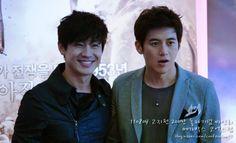 Shin Ha Kyun and Go Soo