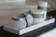 Dienblad wit hout   Dienbladen & Glaswerk   Missey & Sissey - landelijke woonaccessoires