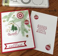 Stampin Up' - Merriest Wishes - Merry Tags Framelits - Flurry Of Wishes - 2016…