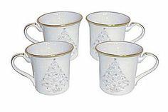Noritake Palace Christmas Gold Mugs http://www.prestigetableware.com/Noritake-PALACE-CHRISTMAS-GOLD-s/2695.htm