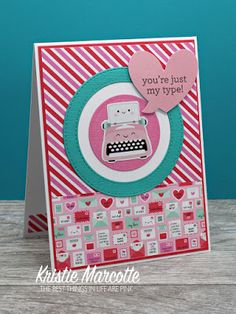 The best things in life are Pink.: Doodlebug's So Punny - 41 cards from one paper pad Valentine Day Love, Valentine Day Cards, Holiday Cards, Pun Card, Scrapbook Page Layouts, Scrapbooking, Paper Smooches, American Crafts, Card Sketches